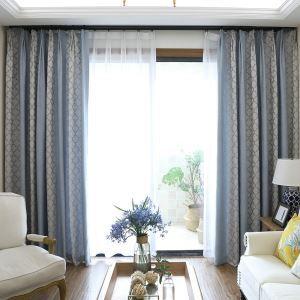 Moderner Vorhang Plaid Jacquard Im Wohnzimmer