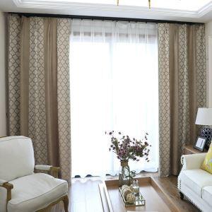 Moderner Vorhang Minimalismus Plaid Jacquard Im Wohnzimmer