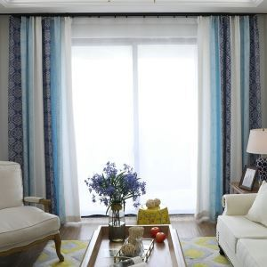 Moderner Vorhang Jacquard im Wohnzimmer