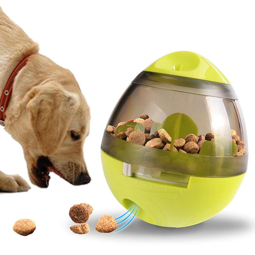 Hundefutter Ball Spender Spielzeug für Hund Herumtreiben Grün