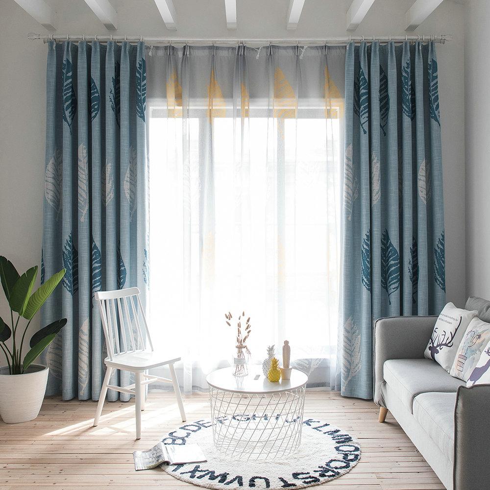 Vorhang minimalisimus grau gro e bl tter im wohnzimmer - Vorhange wohnzimmer grau ...
