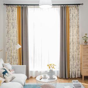 Moderner Vorhang Blumen aus Chenille und Polyester im Wohnzimmer