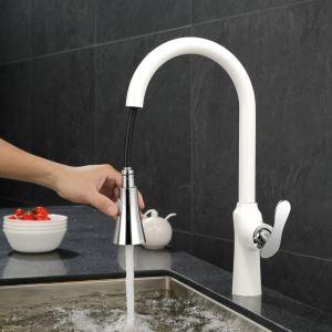Moderne Küchenarmatur Weiß Ausziehbar