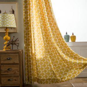 Modern Vorhang Gelb Fischschuppen im Kinderzimmer
