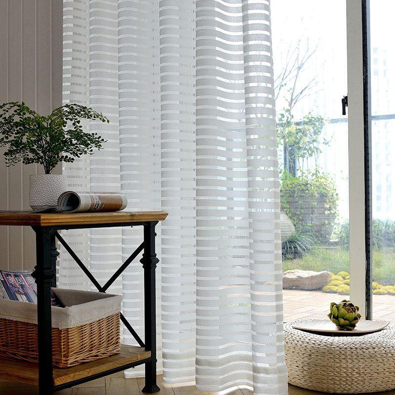 modern gardine minimalismus streifen im b ro wohnzimmer. Black Bedroom Furniture Sets. Home Design Ideas
