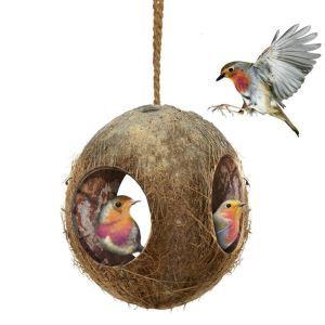 Vogelnest Kokosnuss Design Haus für Hamster Papageien
