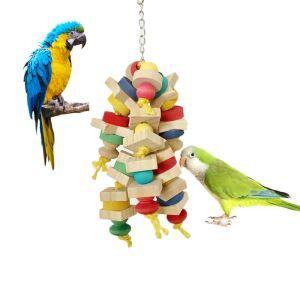 Kauen Spielzeug Bunt aus Holz für Papageien Vögel