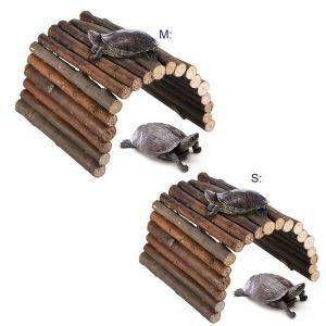 Holzleiter Holzbrücke für Kleintiere Hamster Schildkröte Klettern