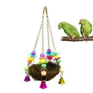 Rattan Schaukel mit Glöckchen Spielzeug für Papageien Vögel