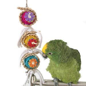 Rattan Kauspielzeug Kugel Design für Papagei