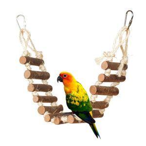 Leiter Klettern Spielzeug aus Holz für Papagei Vögel Training