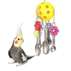 Kauspielzeug für Papagei Vögel aus Kunststoff Edelstahl