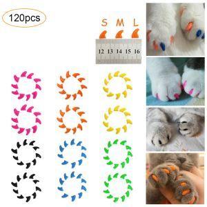 Weiche Nagelkappen für Katze Hunde Krallenschutz 20 Stk