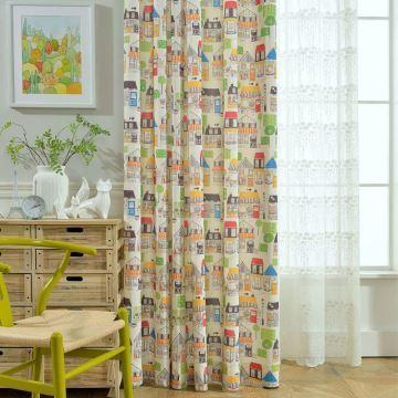 Minimalismus Vorhang Haus Muster im Kinderzimmer