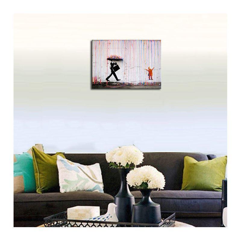 dekorative wandbilder ohne rahme graffiti f r wohnzimmer. Black Bedroom Furniture Sets. Home Design Ideas