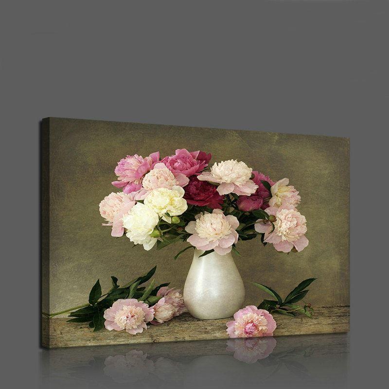 leinwandbild blumen in der vase ohne rahme im esszimmer. Black Bedroom Furniture Sets. Home Design Ideas