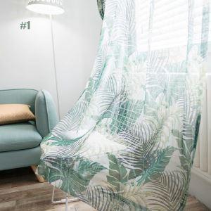 Modern Vorhang Gelb Blätter Design Im Wohnzimmer