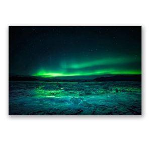 Leinwandbild Polarlicht ohne Rahme im Wohnzimmer