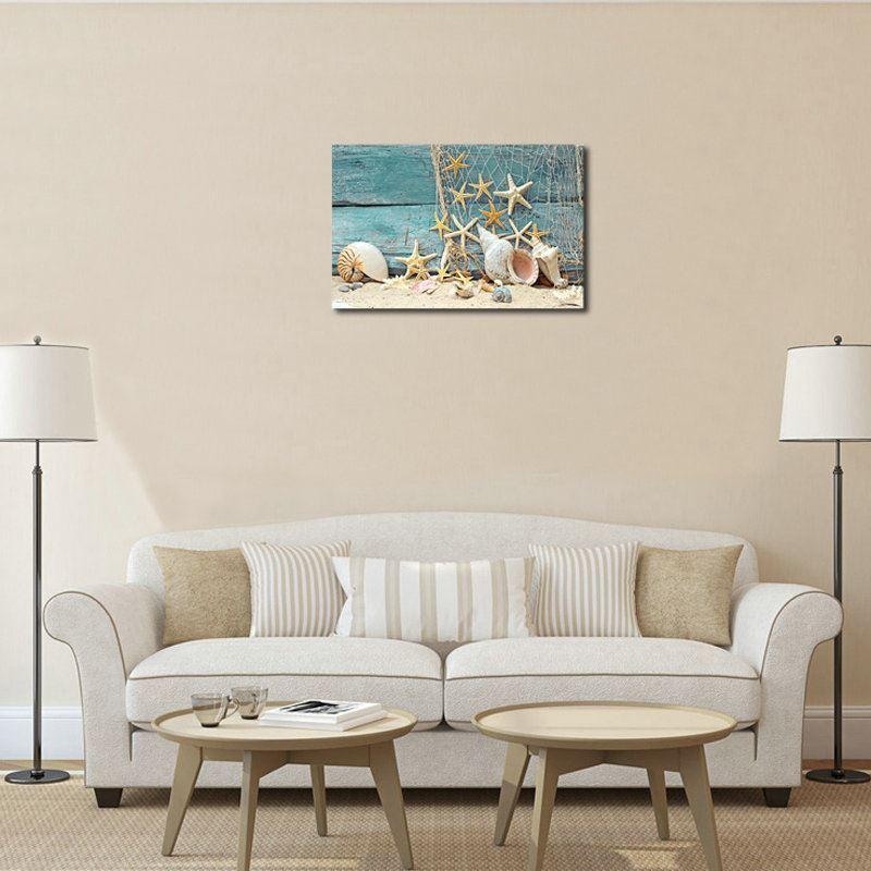 dekorative wandbilder ohne rahme seestern f r wohnzimmer. Black Bedroom Furniture Sets. Home Design Ideas