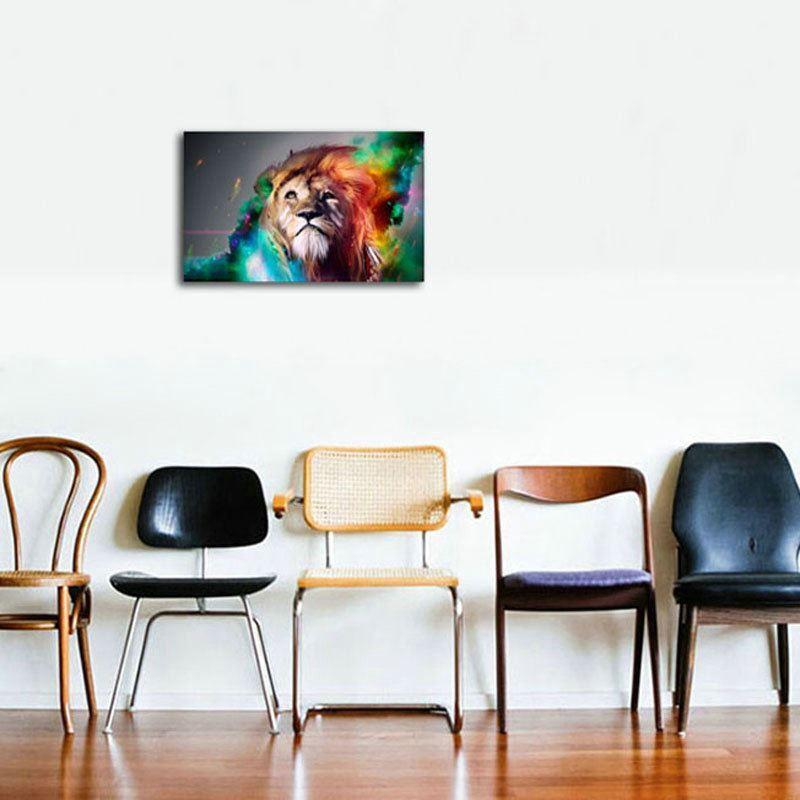 dekorative wandbilder ohne rahme l we f r wohnzimmer. Black Bedroom Furniture Sets. Home Design Ideas