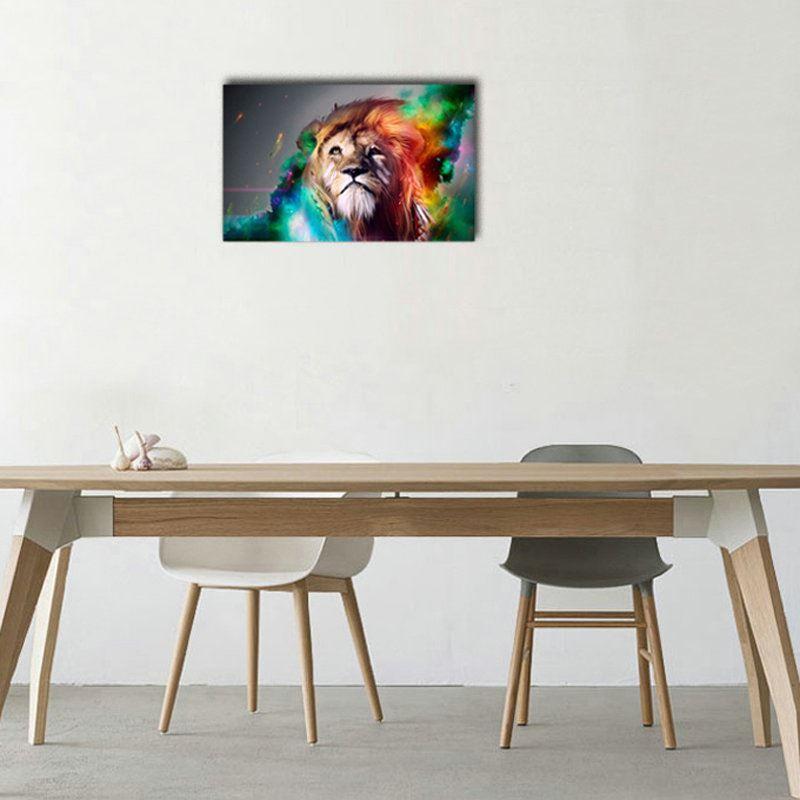 Dekorative Wandbilder Ohne Rahme Löwe Für Wohnzimmer