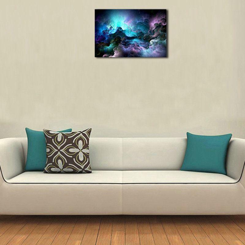 moderne wandbilder ohne rahme sternenhimmel f r wohnzimmer. Black Bedroom Furniture Sets. Home Design Ideas