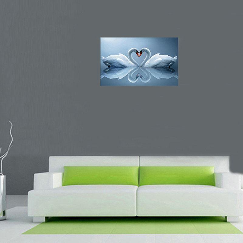 Moderne Wandbilder Ohne Rahme Schwäne Für Wohnzimmer