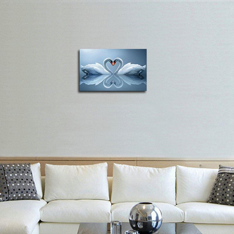 moderne wandbilder ohne rahme schw ne f r wohnzimmer. Black Bedroom Furniture Sets. Home Design Ideas