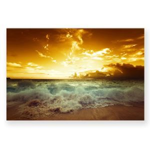 Leinwandbild Sonnenuntergang am Meer ohne Rahme