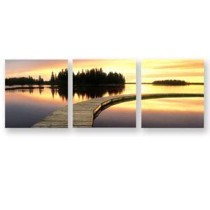Leinwandbild Modern Sonnenuntergang ohne Rahme im Wohnzimmer