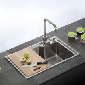Moderne Einbauspüle Edelstahl Spülbecken Eckig für Küche S6845M