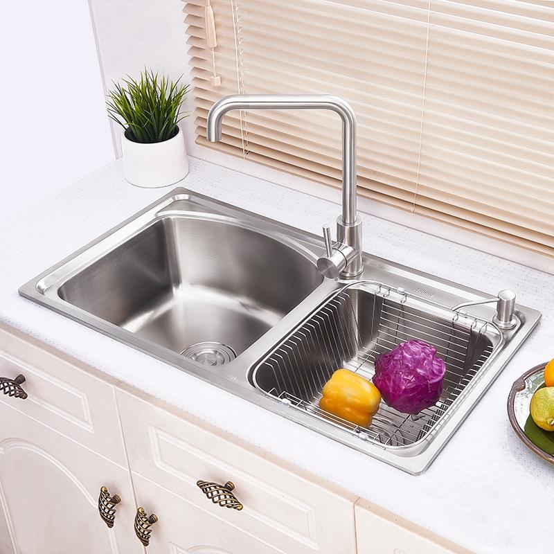 Einbauspüle Edelstahl Spülbecken Modern für Küche AOM8044