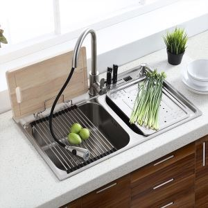 Einbauspüle Modern Küchenspüle Edelstahl Eckig für Küche MF8048