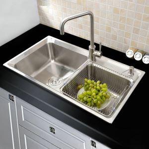 Küchenspüle Edelstahl Moderne Spülbecken für Küche AOM7138