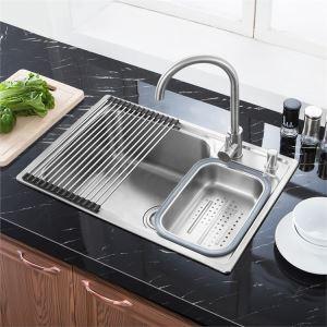 Moderne Einbauspüle Edelstahl Spülbecken für KücheS7245
