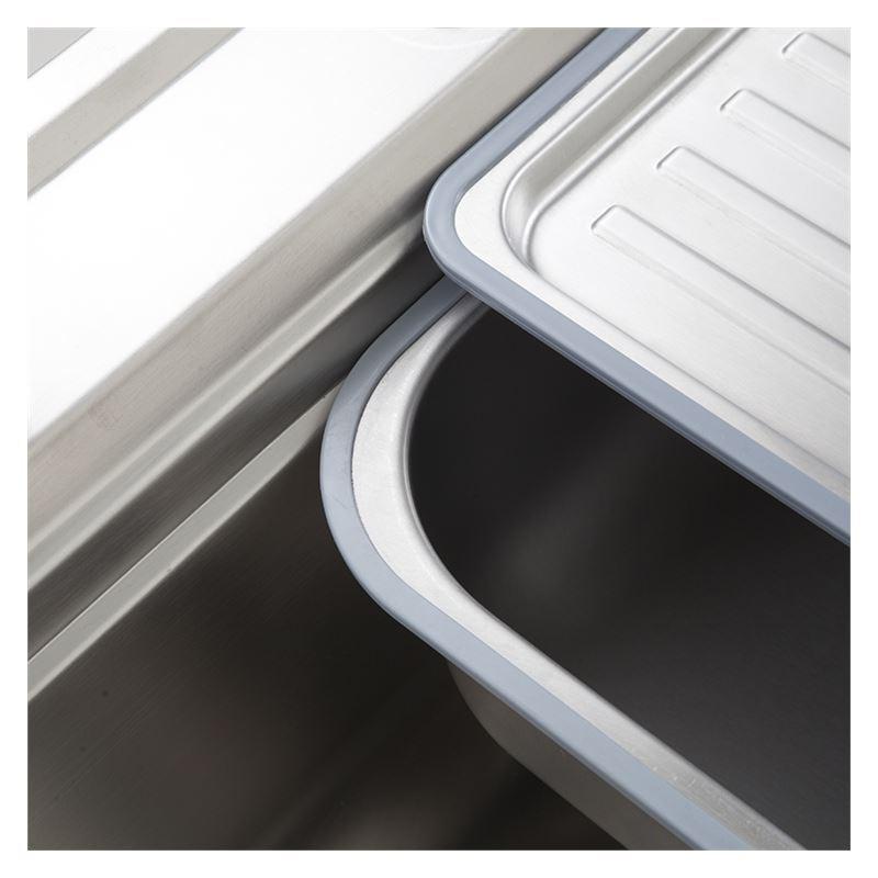 Moderne Einbauspüle Edelstahl Spülbecken Eckig Für Küche