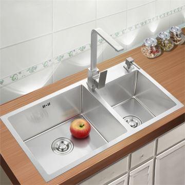 Küchenspüle Edelstahl Spülbecken für Küche 75*41cm
