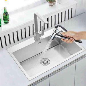 Edelstahlspüle Spülbecken Modern für Küche 50*45mm