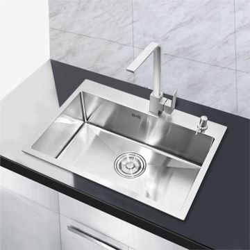 Einbauspüle Edelstahl Modern Handgemacht Spülbecken für Küche 60*45cm