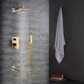 armaturen duschsysteme eu lager antik messing duscharmatur mit 8 zoll duschkopf handbrause. Black Bedroom Furniture Sets. Home Design Ideas