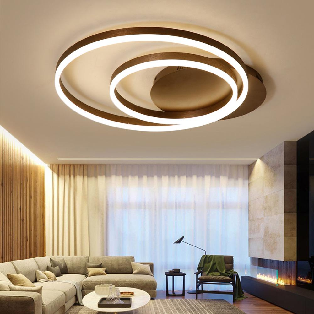 led deckenleuchte modern zwei ringe aus acryl. Black Bedroom Furniture Sets. Home Design Ideas