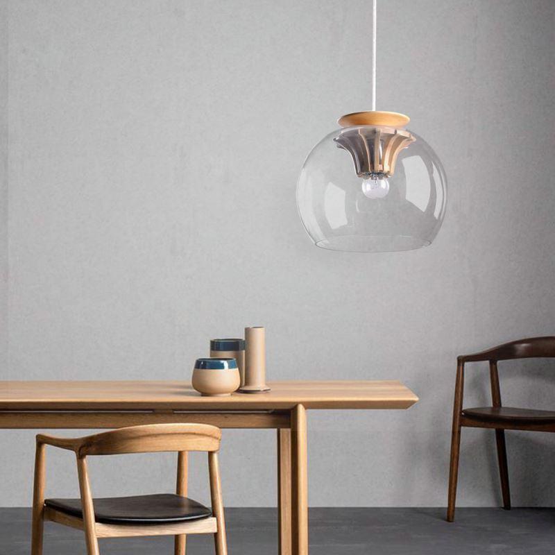 Pendelleuchte glas modern stilvoll zahnrad design im - Design pendelleuchte esszimmer ...