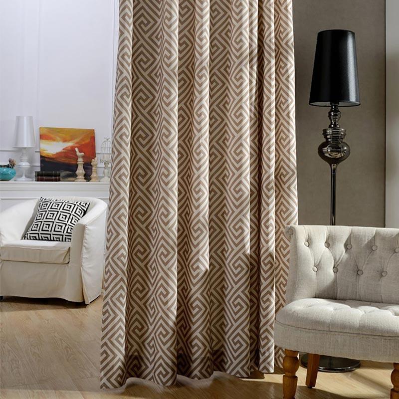 Modern Vorhang Geometrie Design im Schlafzimmer