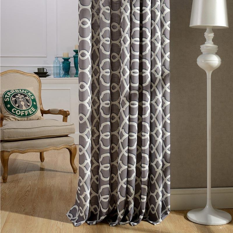 Vorhang Grau Muster modern vorhang grau wellen muster im wohnzimmer