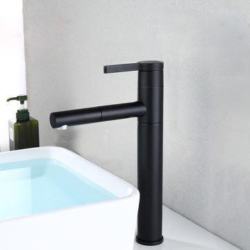 waschtischarmatur schwarz retro ausziehbar im badezimmer. Black Bedroom Furniture Sets. Home Design Ideas