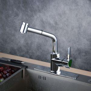 Einhand Küchenarmatur Ausziehbar Modern in Chrom