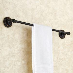 WC Handtuchstange Einzeln aus Messing Schwarz Badzubehör