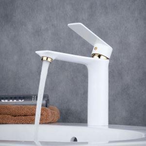 Wasserhahn Einhand für Waschtisch in Weiß