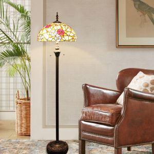 Stehleuchte im Tiffany Stil Rose Design 2 flammig