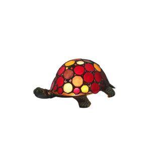 Tiffany Nachttischlampe Schildkröte Design Bunt 1 flammig